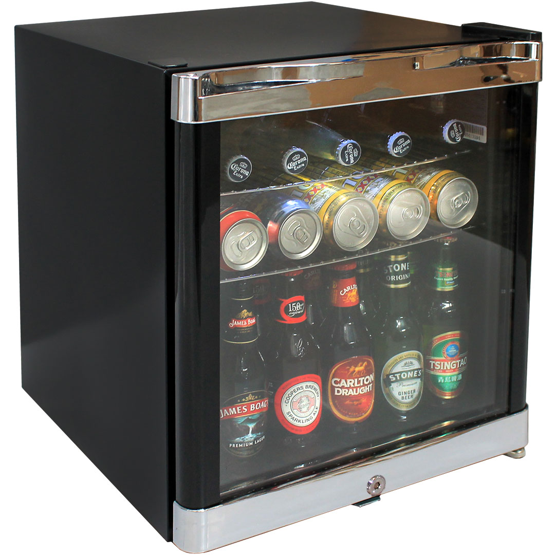 Tropical Mini Glass Door Bar Fridge Lockable