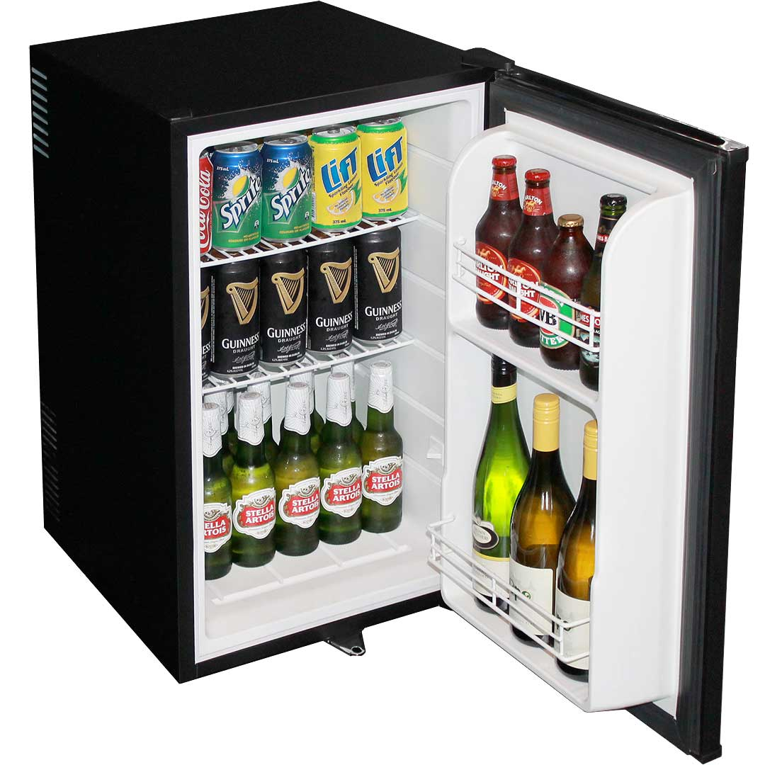 Mini bar fridge very quiet great for motel rooms delivery Living room bar with fridge