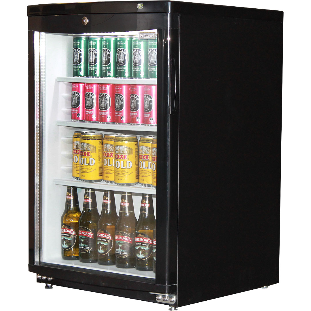 Dellware Commercial Glass Door Bar Fridge 92litre Delivery