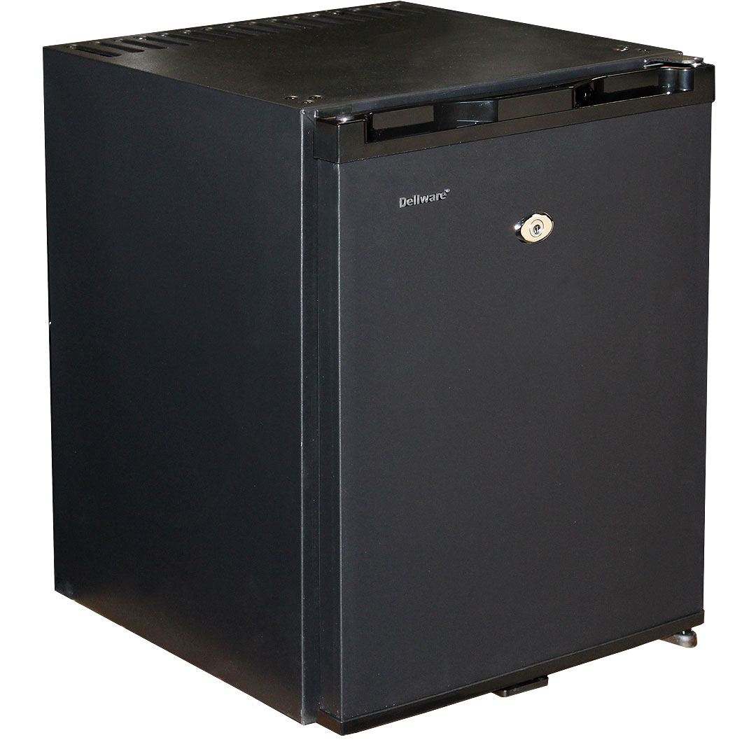 Silent Dellware Compact Mini Bar Fridge With Lock And
