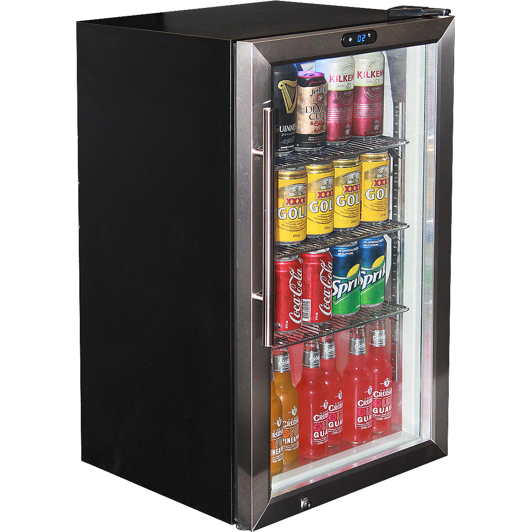 Glass Door Tropical Rated Bar Fridge With Stainless Door