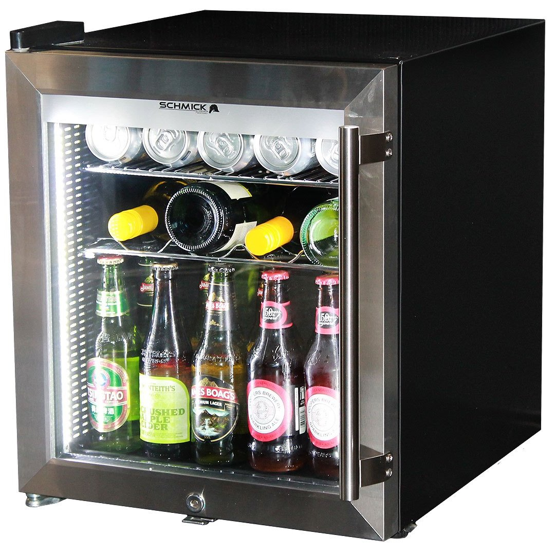 Glass Door Bar Fridge Tropical Rated Led Lighting And Lock Left
