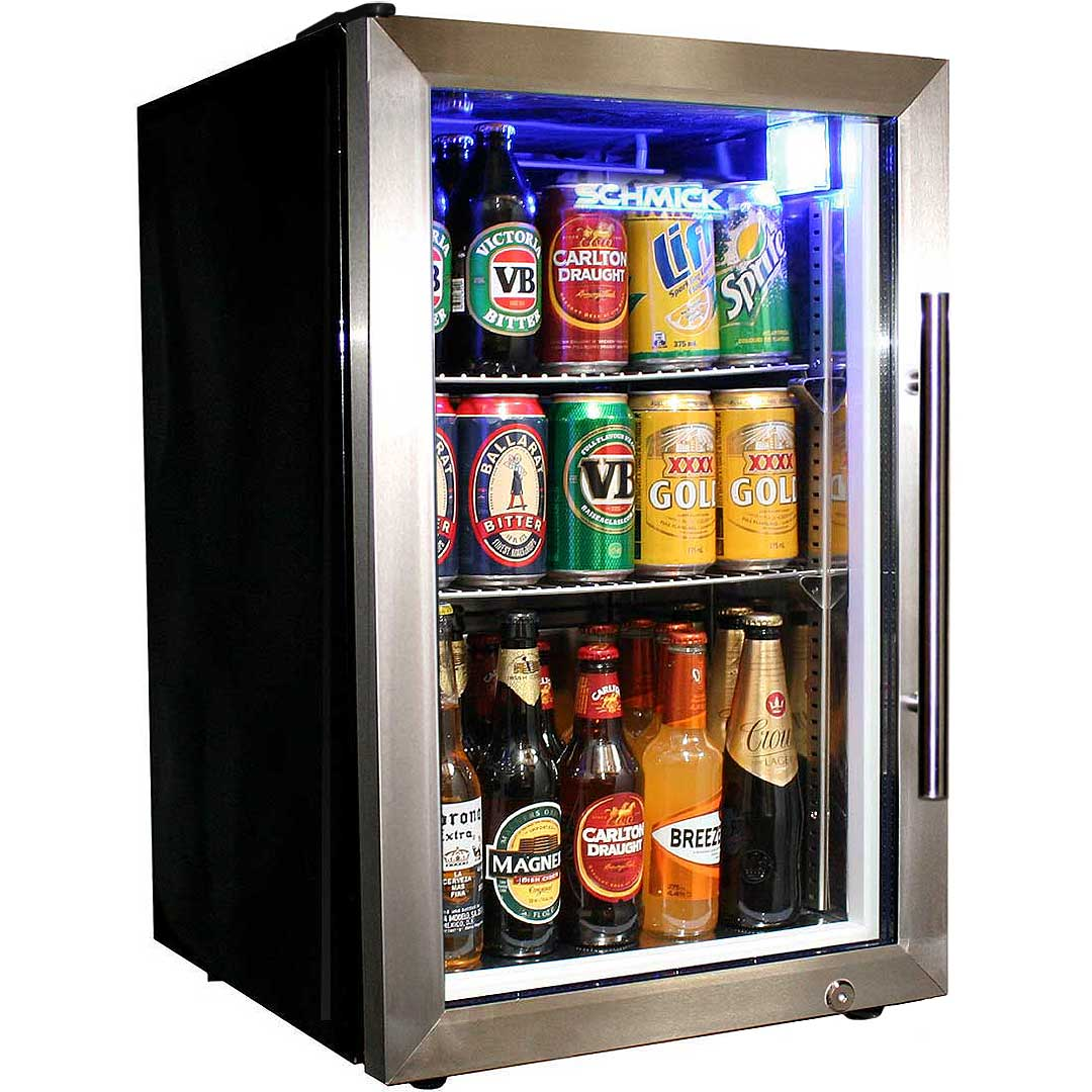 Glass Door Tropical Beer Fridge Left Hinged Australia