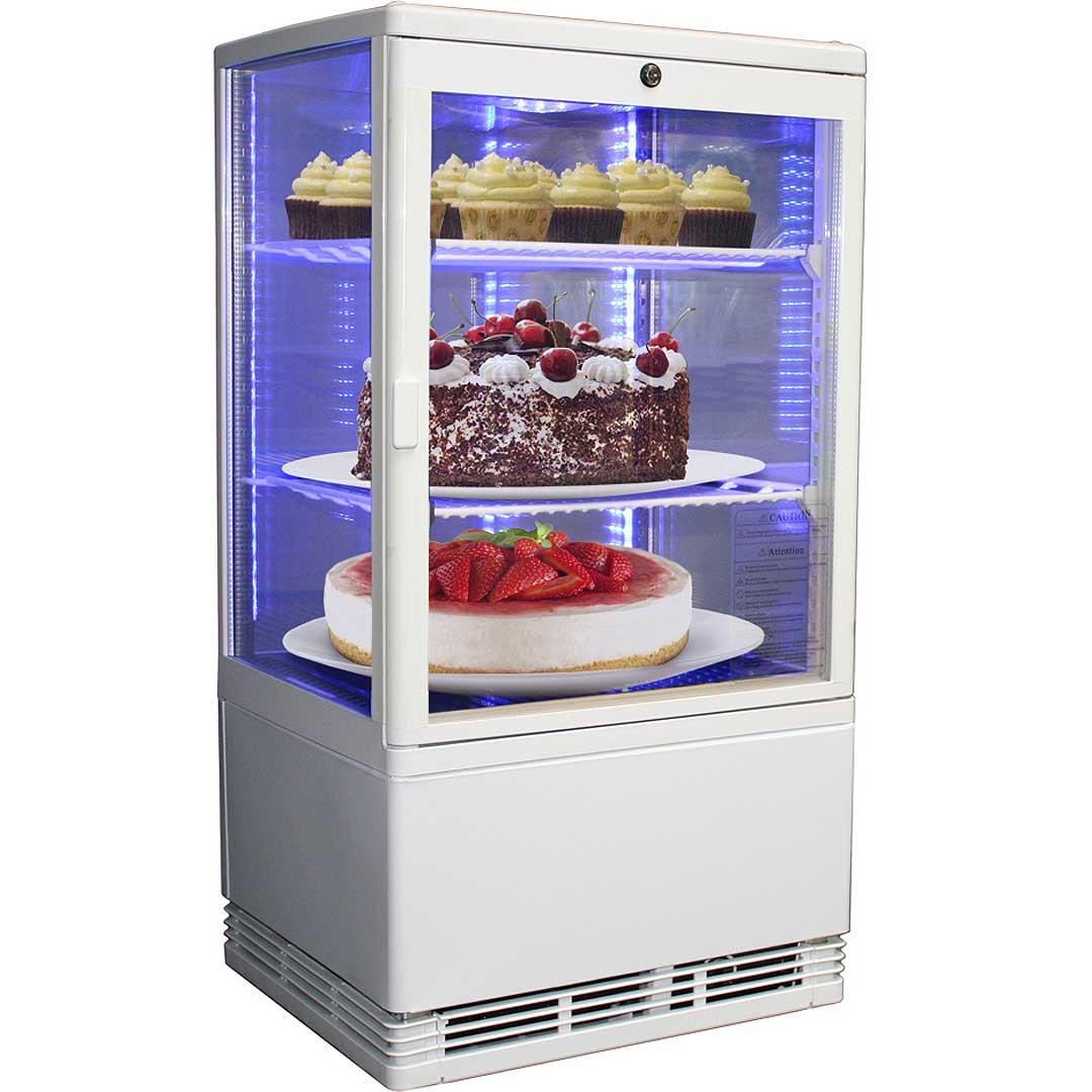 high quality all glass cake sandwich drinks display fridge