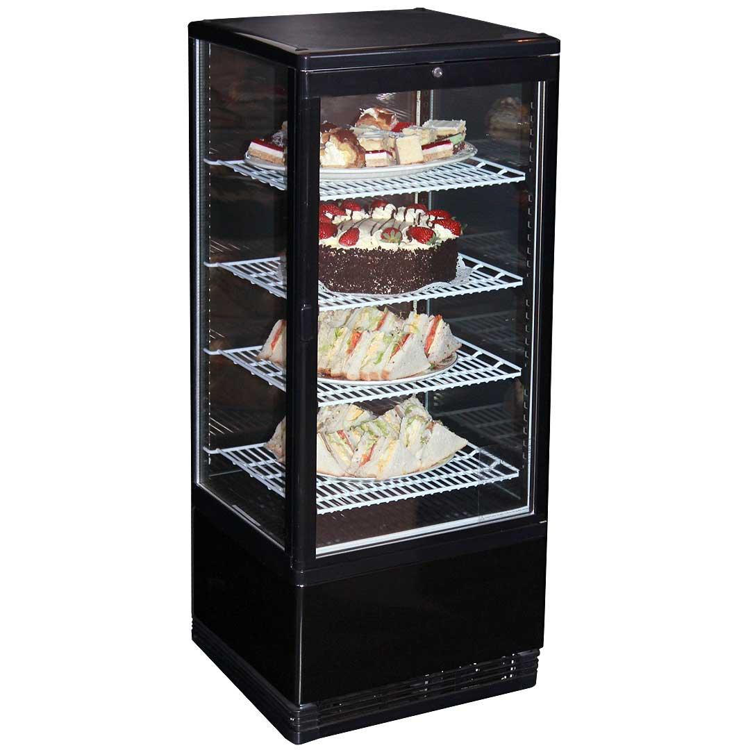 95litre Cake Sandwich Display Fridge Black Body And Low E