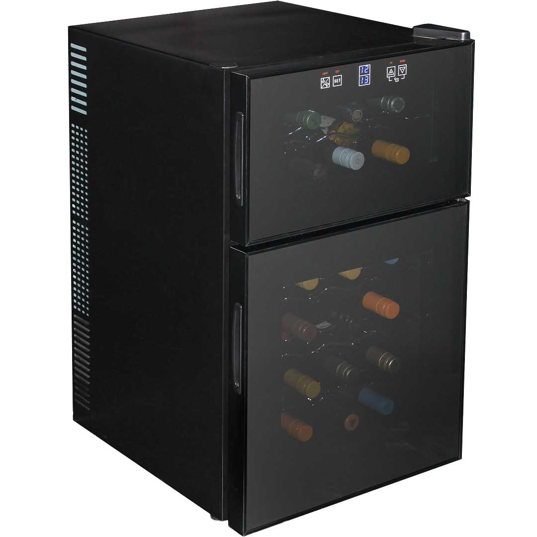 Dual Zone Wine Fridge 24 Bottle Quiet Running Model Bcw69 Dd