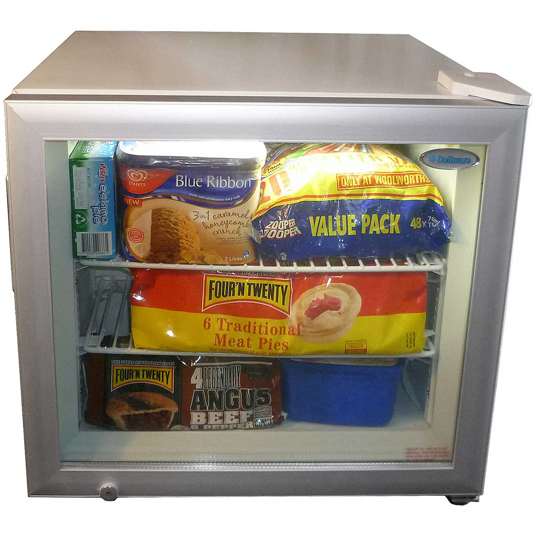 Dellware Glass Door Mini Freezer Model DW-SD50 front  sc 1 st  Bar Fridges Australia & Mini Glass Door Bar Freezer / 50Litre freezer great for home or busy ...
