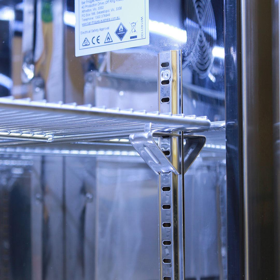 Rhino 2 Door Alfresco Outdoor Glass Door Bar Fridge  Model GSP2H-SS lock