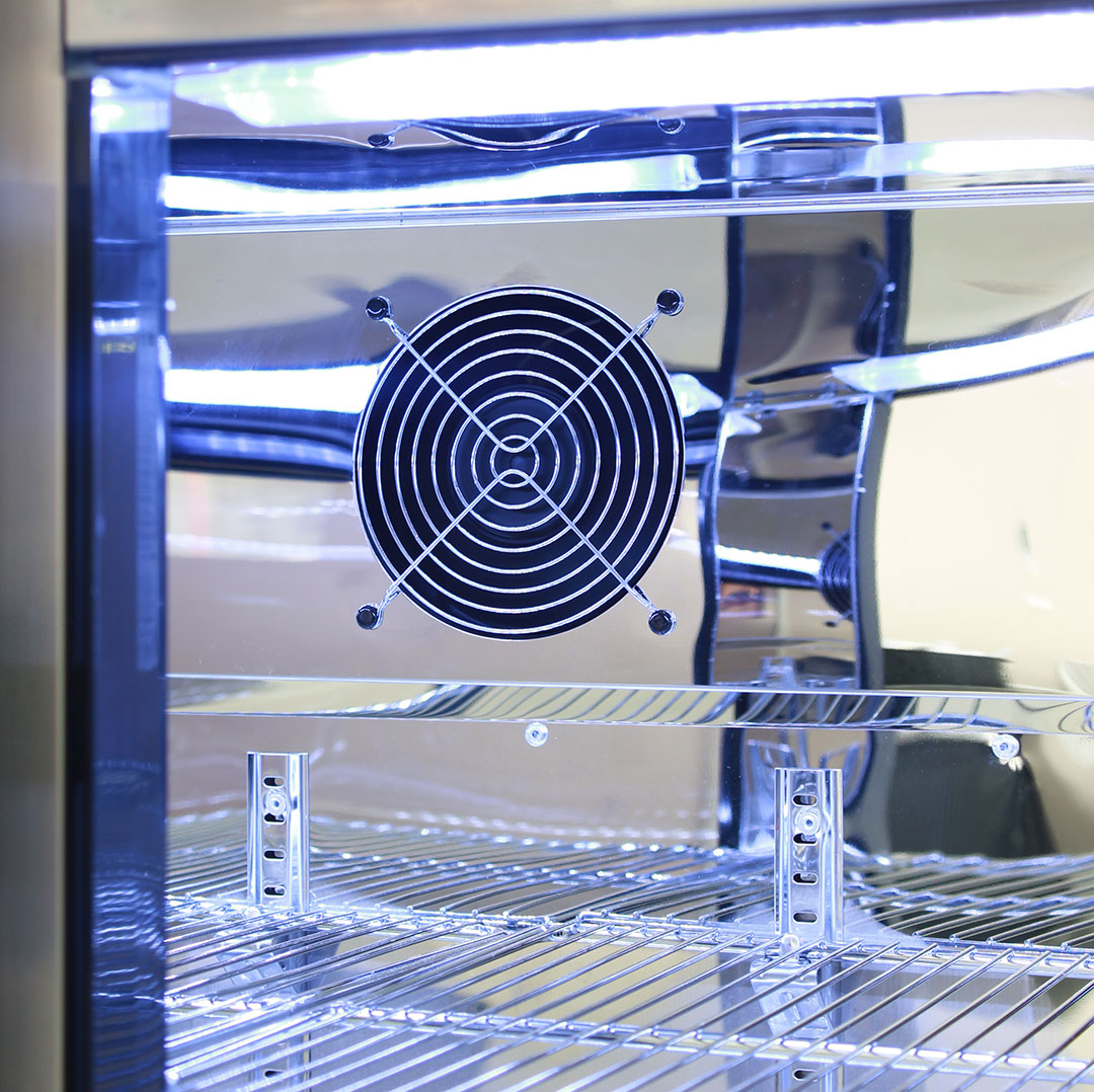 Rhino 2 Door Alfresco Outdoor Glass Door Bar Fridge  Model GSP2H-SS display