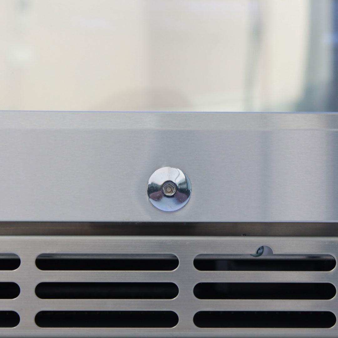Rhino 2 Door Alfresco Outdoor Glass Door Bar Fridge  Model GSP2H-SS fan