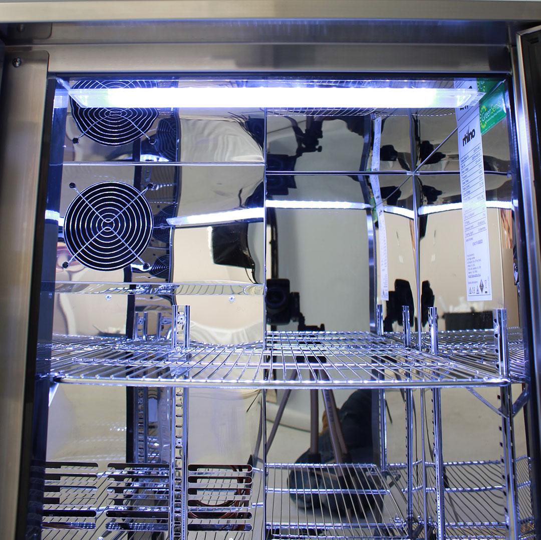 Rhino 3 Door Alfresco Outdoor Glass Door Bar Fridge Model GSP3H-SS light
