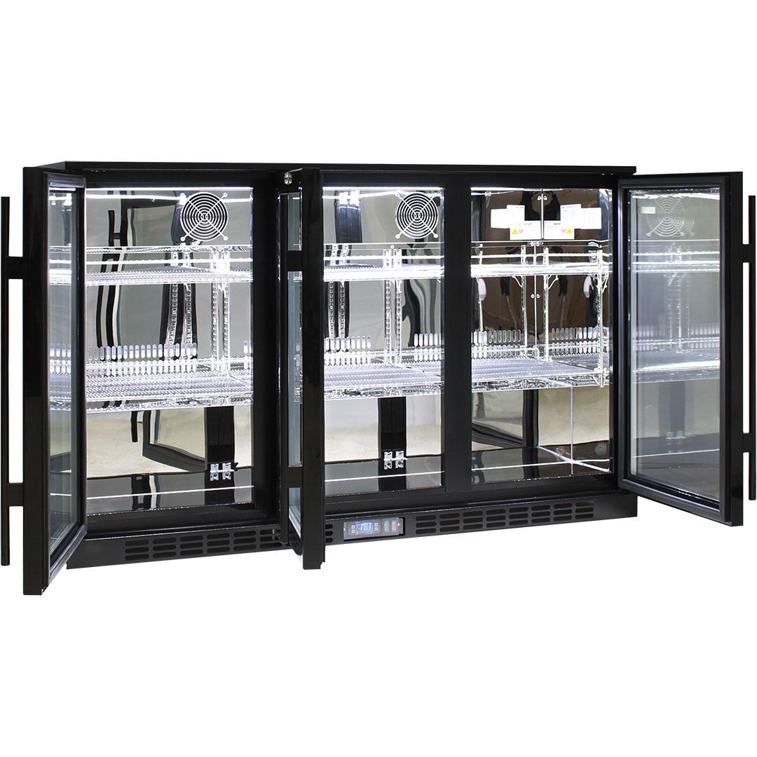 Rhino 3 Door GSP Commercial Bar Fridge - Self Closing Doors