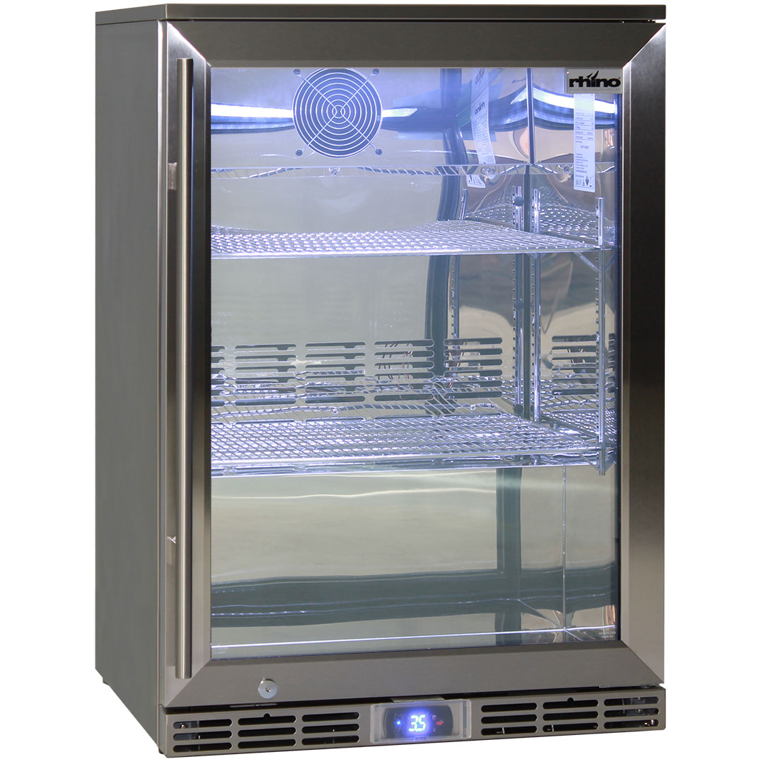 Rhino Outdoor Bar Fridge All 304 Stainless Steel Exterior And Interior
