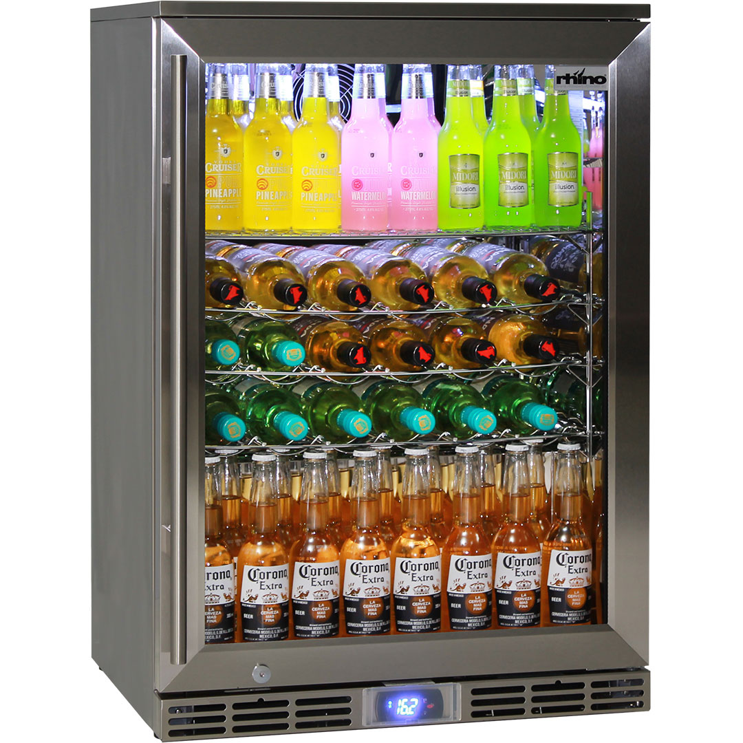 Refrigerator Options Rhino Outdoor Glass 1 Door Alfresco Drinks Bar Fridge