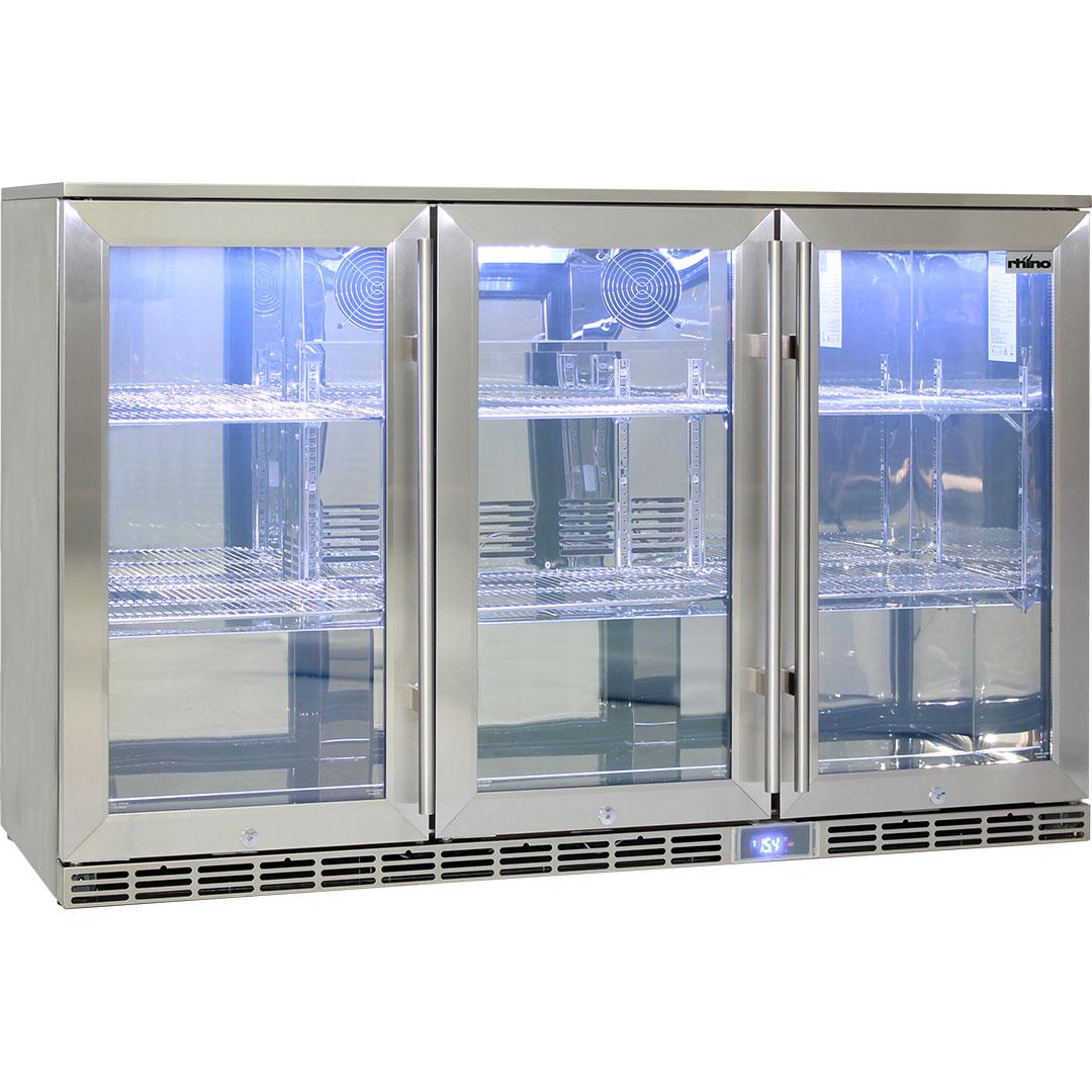 Rhino 3 Door Outdoor Glass Door Alfresco Bar Fridge Energy