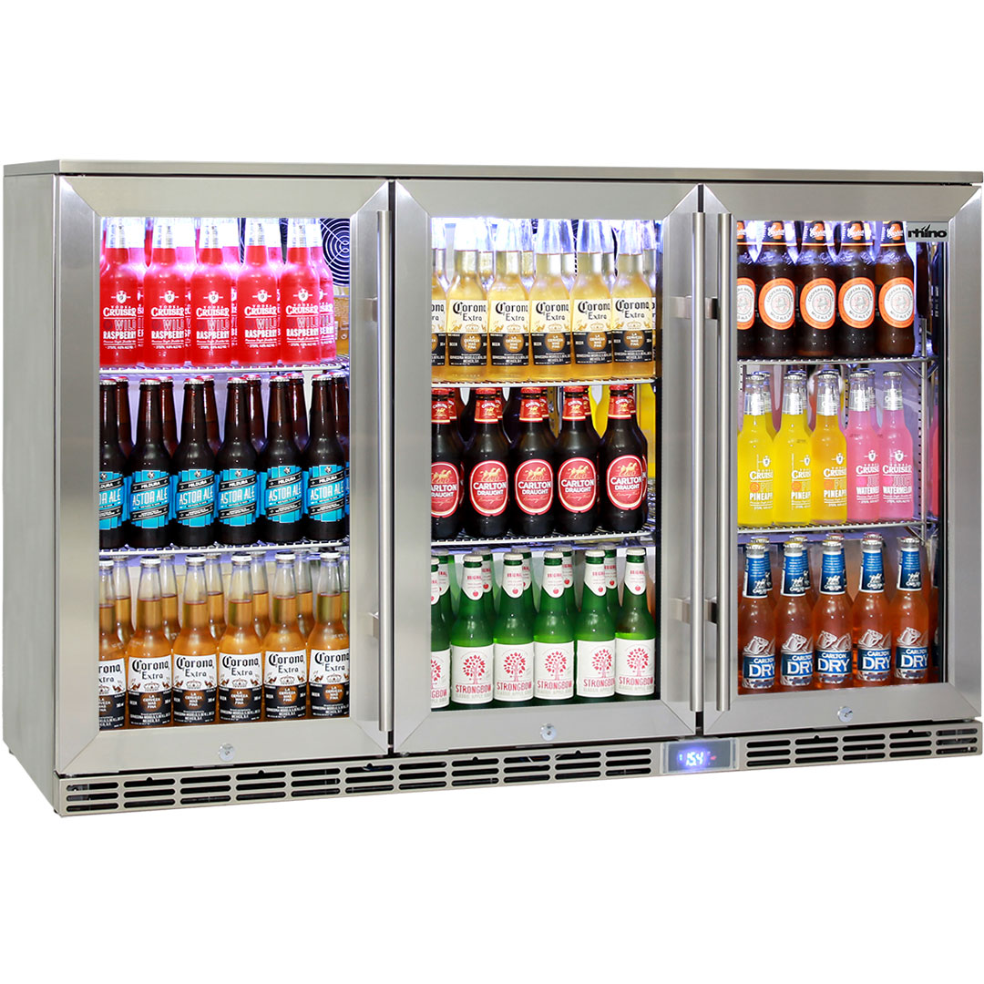 Rhino 3 Door Outdoor Glass Door Alfresco Bar Fridge Energy