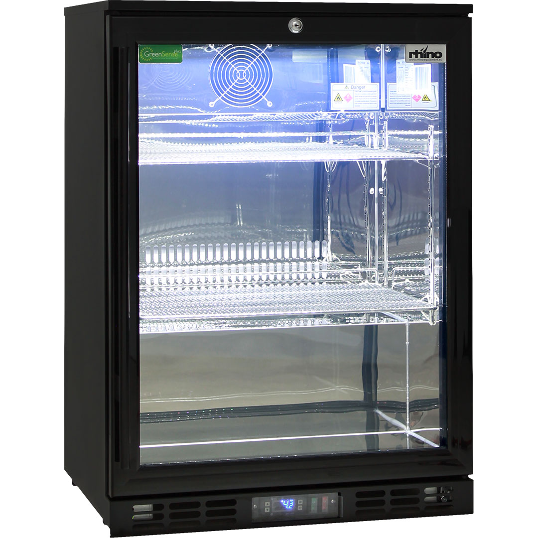Rhino Commercial 1 Door Pub Beer Bar Fridge Low Energy Consumption Lock Included