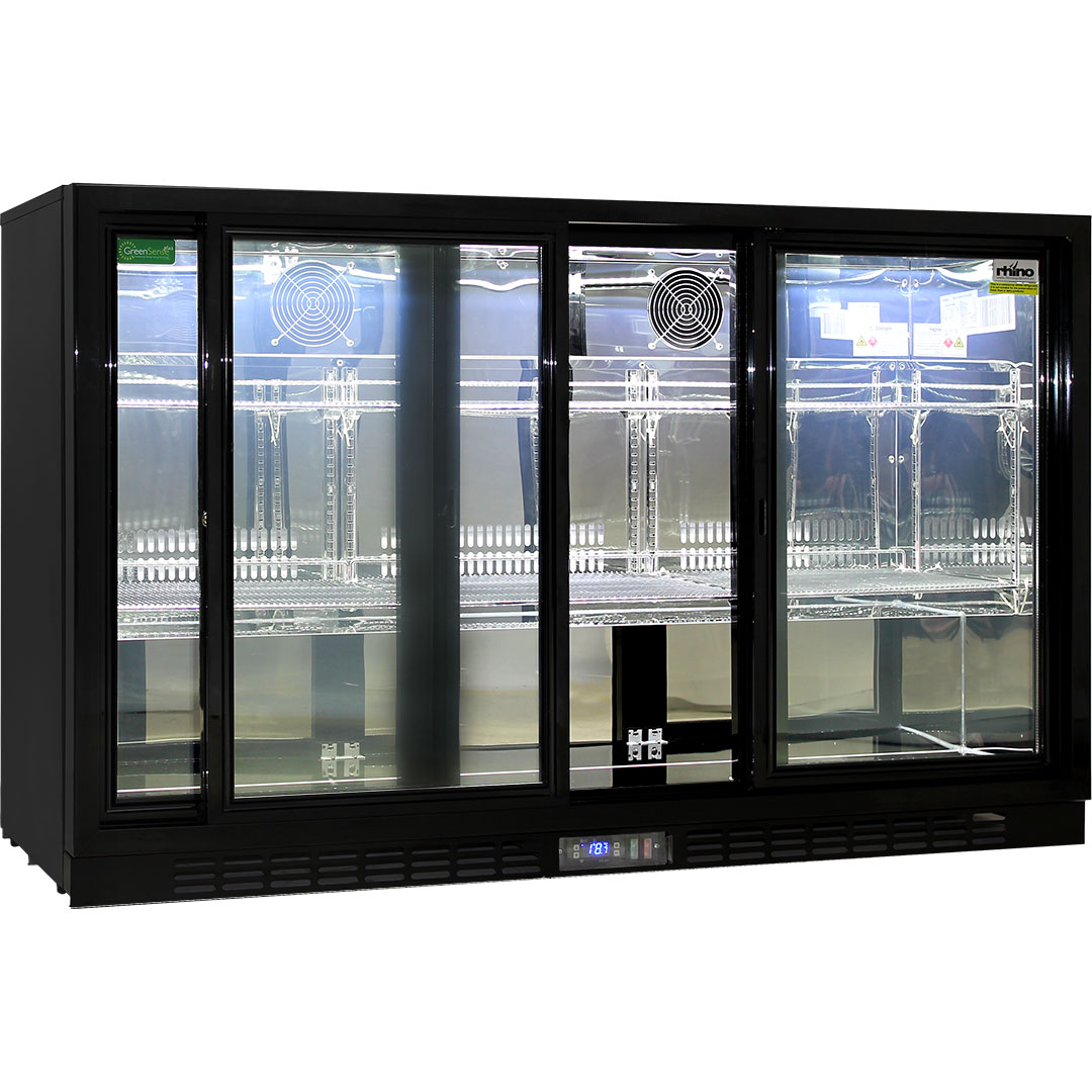 Energy Saving Sliding 3 Glass Door Commercial Bar Fridge