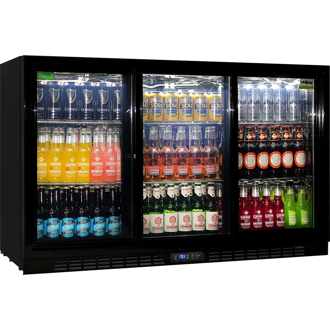 Rhino 3 Sliding Doors Commercial Bar Fridge Brand Name Parts For Longevity