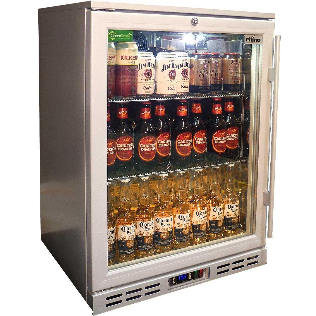 Glass door commercial alfresco silver bar fridge with lg compressor rhino 1 door silver glass door bar fridge model sg1hl s eventelaan Gallery