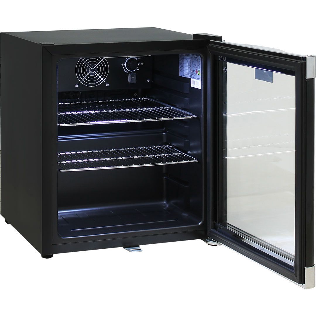 Tropical Rated Mini Glass Door Bar Fridge With Lockable