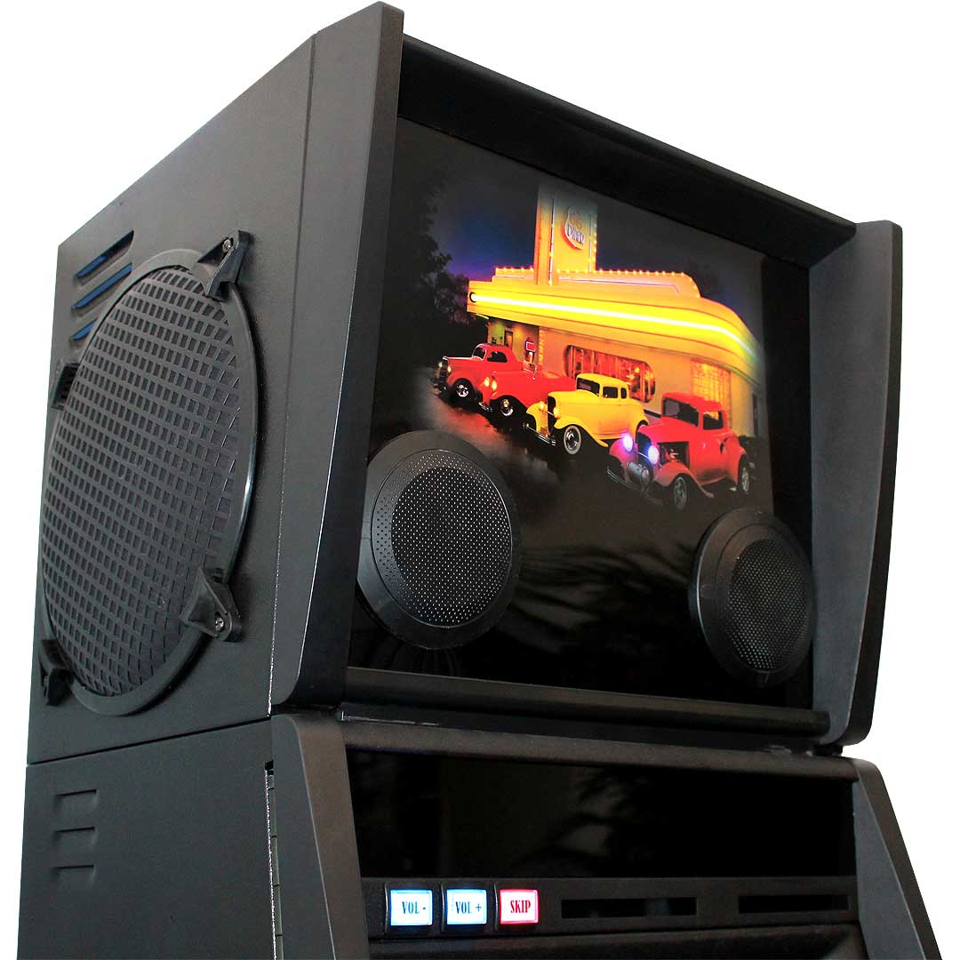 Electronic Juke Box Made from Old Pokie Machine Light Box