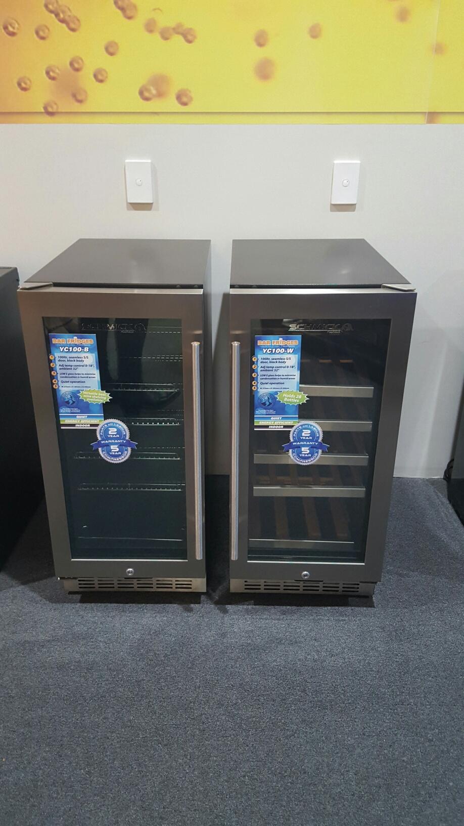 Mini Dual Zone Wine Refrigerator 24 Bottle Model BCW69 Top Open