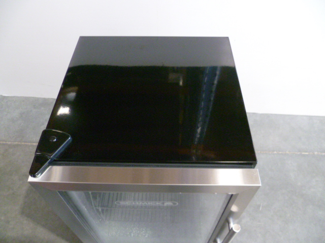 Glass Door Display Fridge Blue Led