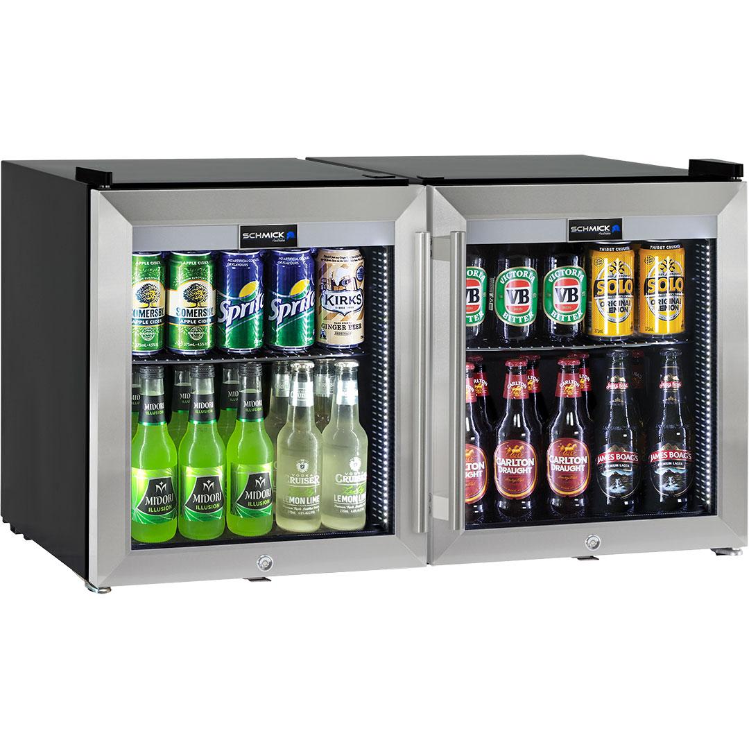 2 Door Alfresco Mini Tropical Glass Door Refrigerator