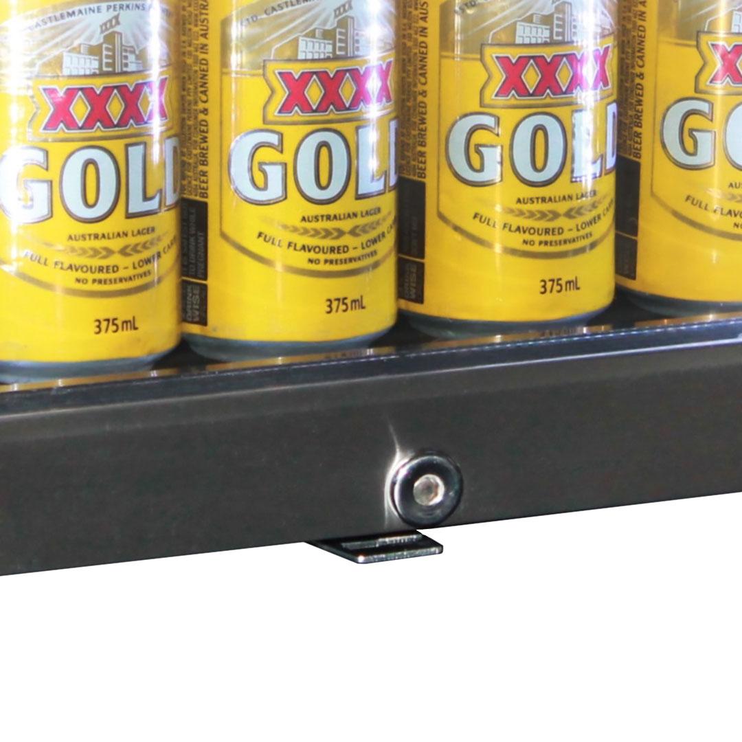 Outdoor Alfresco Bar Fridge Triple Glazed With Lock