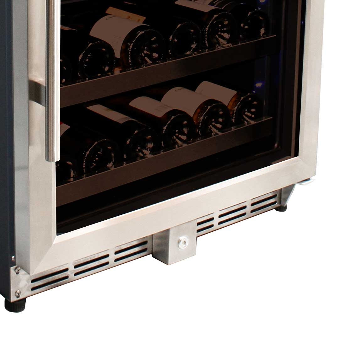 Wine refrigerator with lg compressor and sliding ball for Door zone module