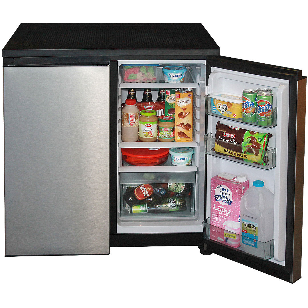 Fridge Freezer Combination With Stainless Steel Doors 156litre