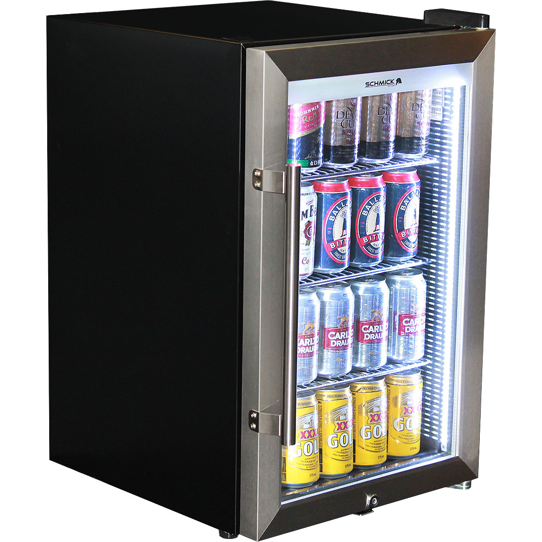 Schmick Tropical Triple Glazed Outdoor Glass Bar Fridge 70Litre