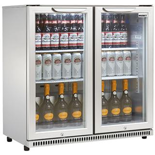 Husky Intelligenzia Energy Efficient 2 Glass Door Commercial Bar Fridge