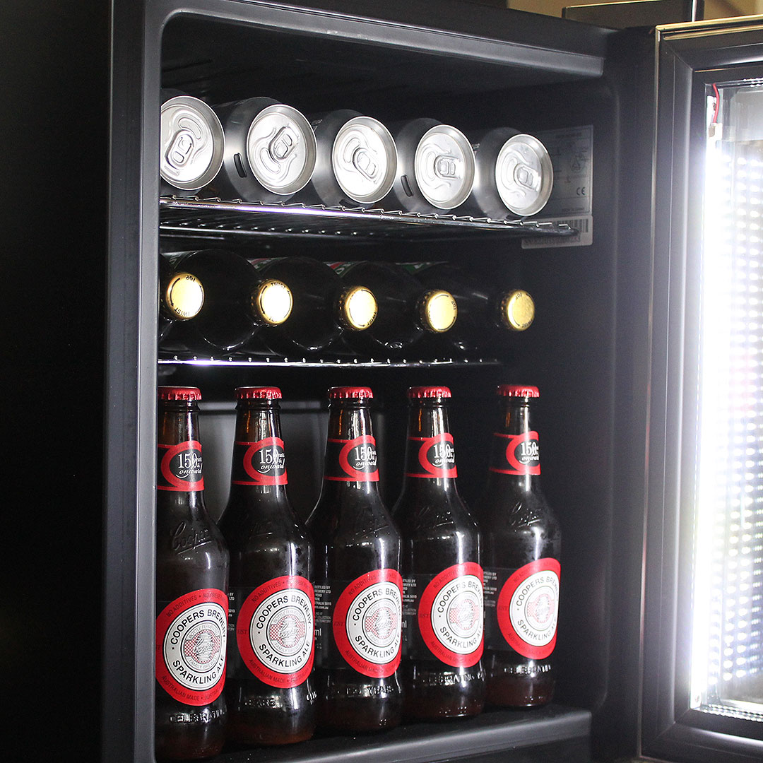 Alfresco Glass Door Triple Glazed Bar Fridge Strip Led