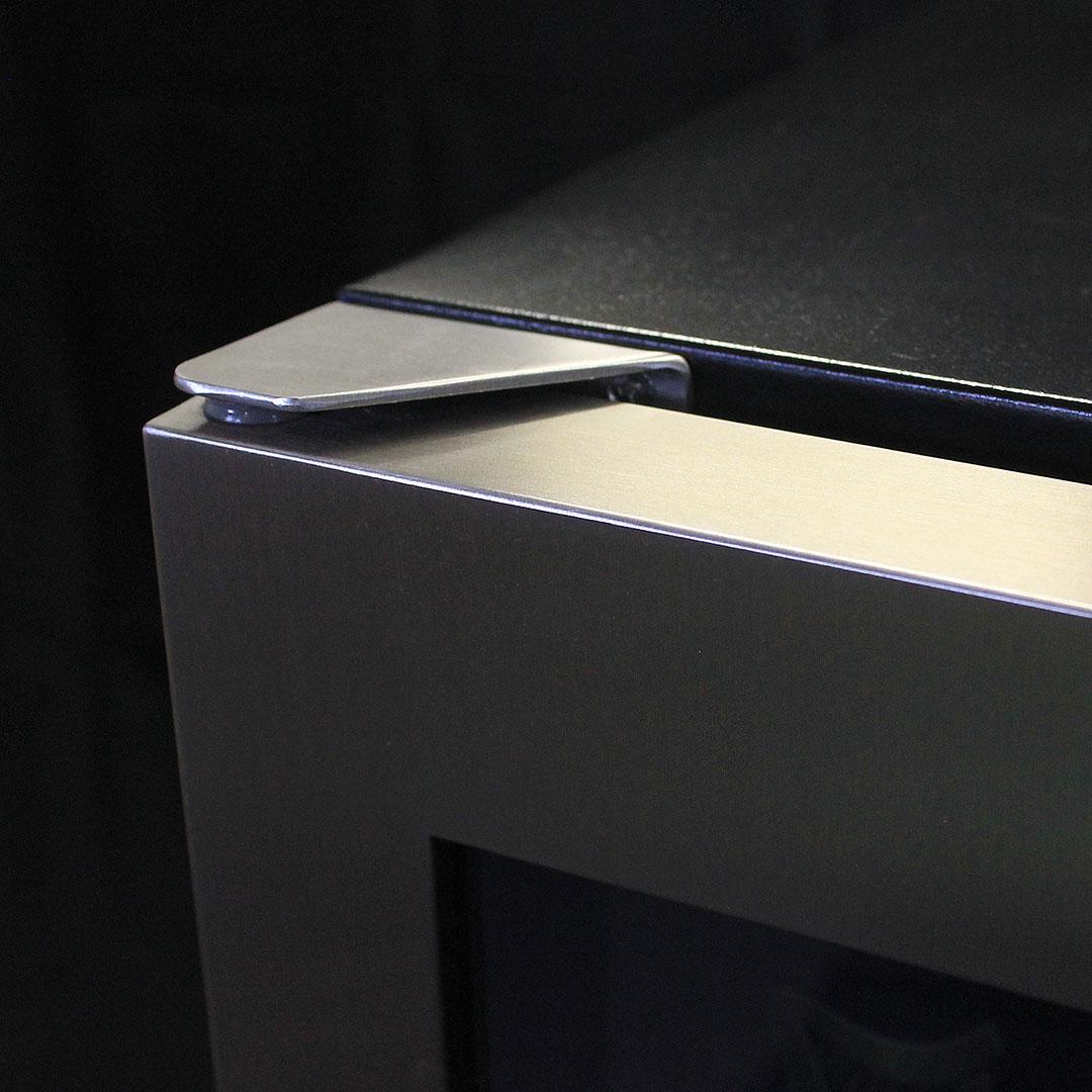 Glass Door Under Bench Bar Fridge - Hinge Level With Top