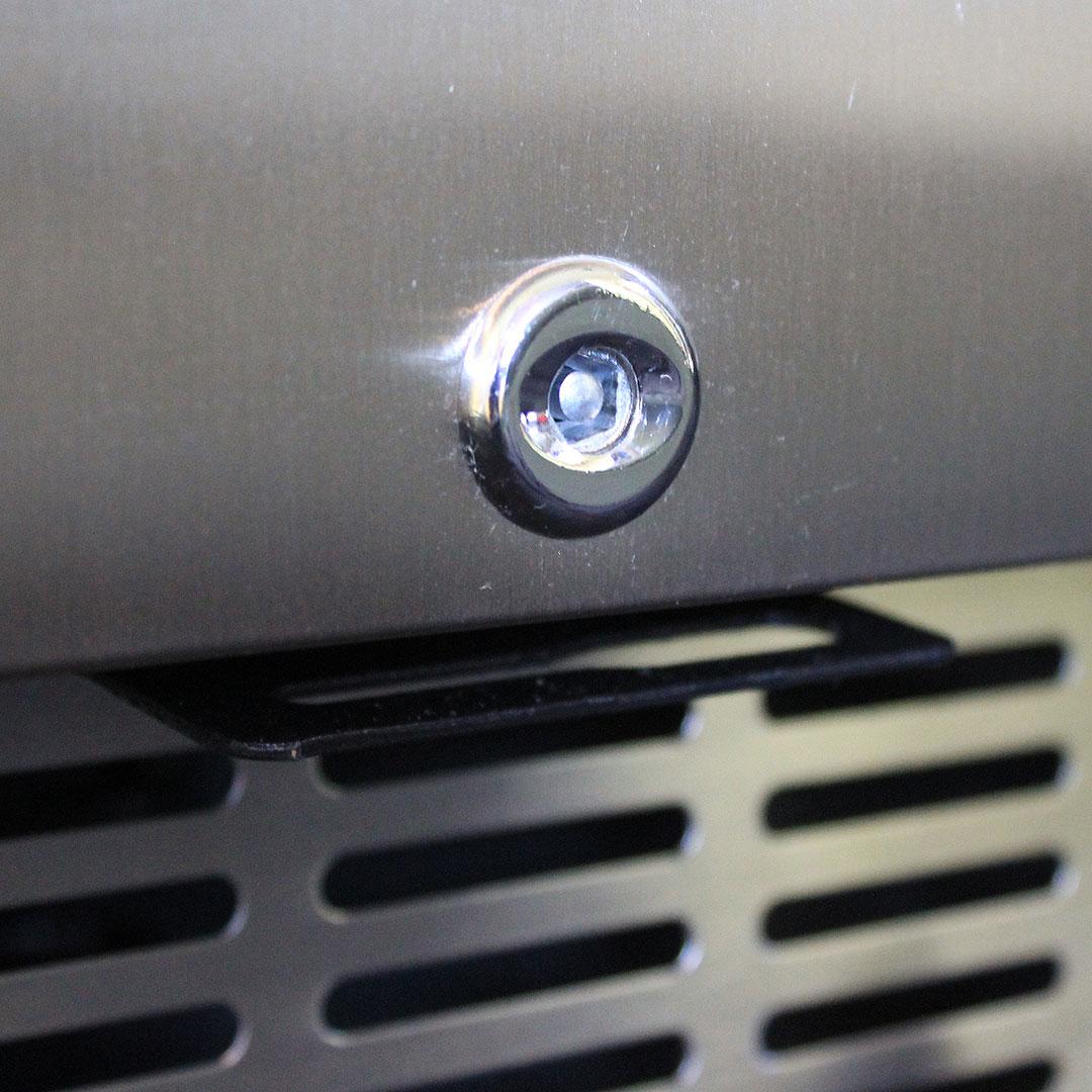 Glass Door Under Bench Bar Fridge - Lockable