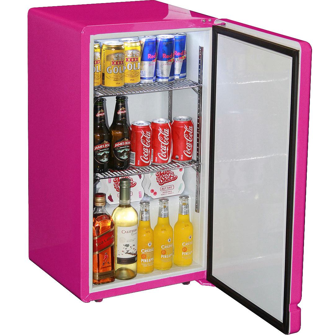 University Fridge Retro Pink Bar Refrigerator Nostalgic
