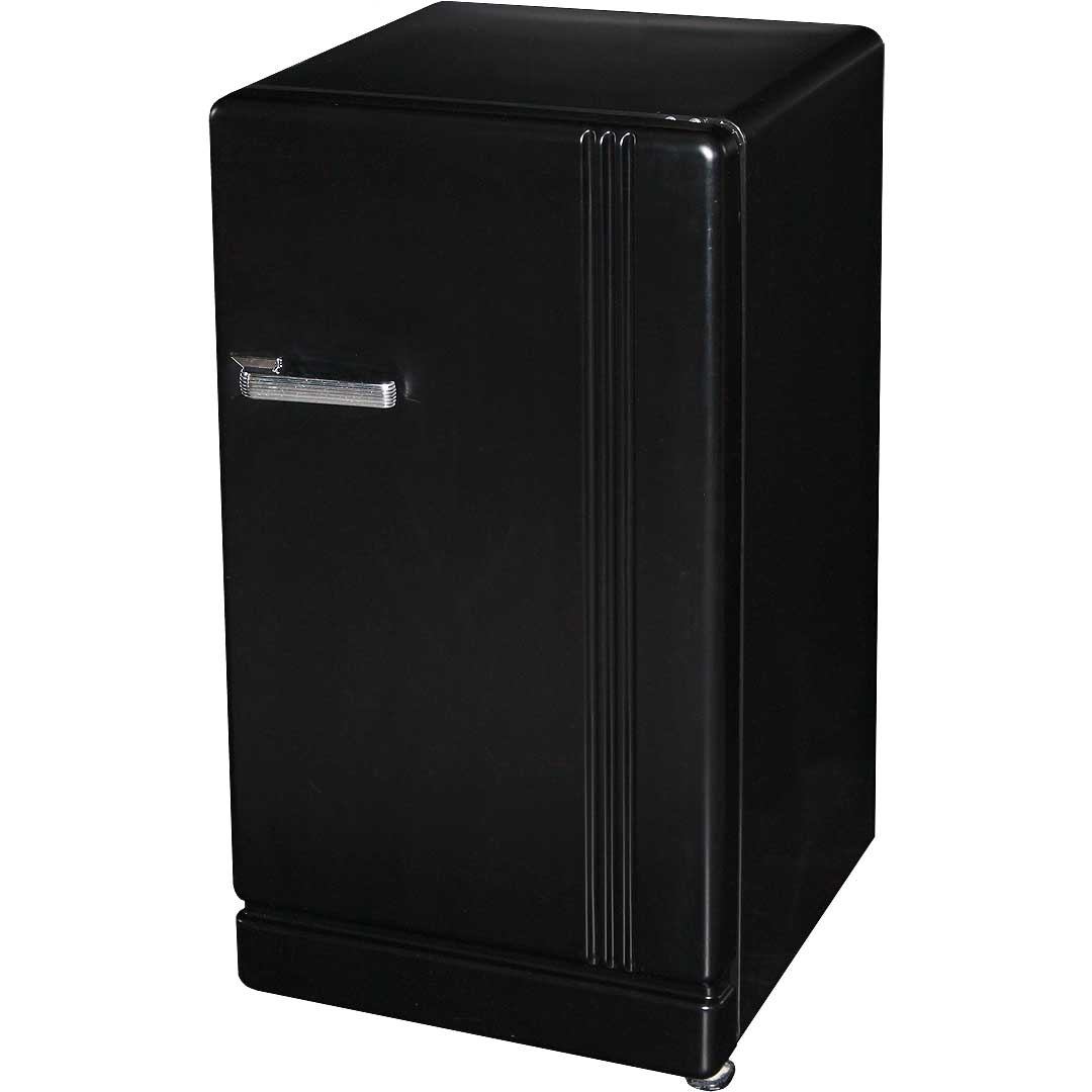 Retro Black Bar Refrigerator Nostalgic Look With Col
