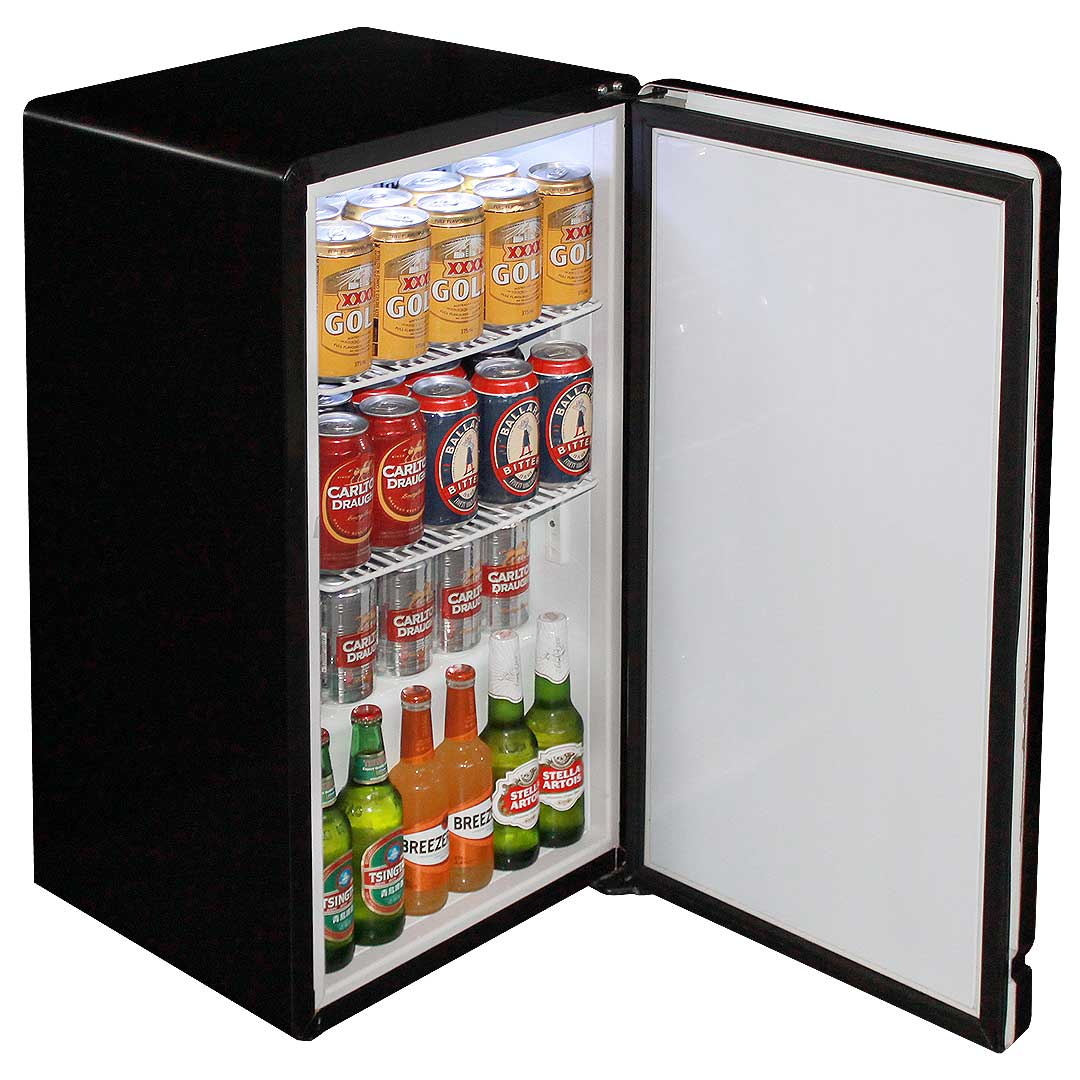 Retro Black Bar Refrigerator Nostalgic Look With Col