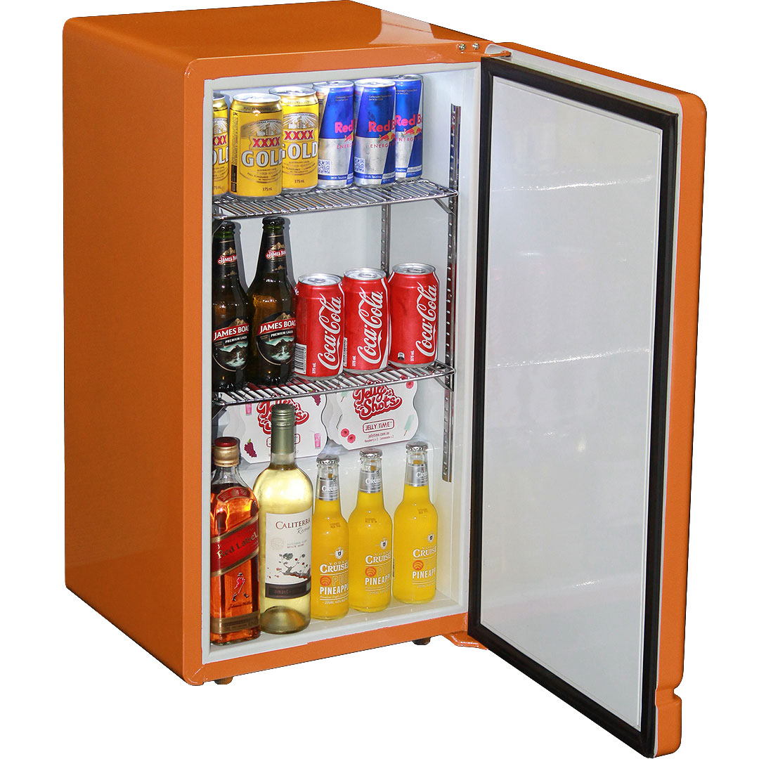 Retro Orange Bar Refrigerator Nostalgic Look With Col