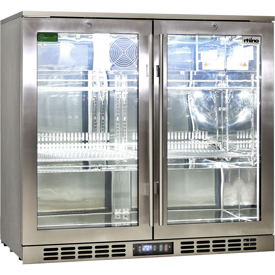 Heated Doors 2 Door Alfresco Fridge Rhino Heated Glass Stops Condensation On Glass