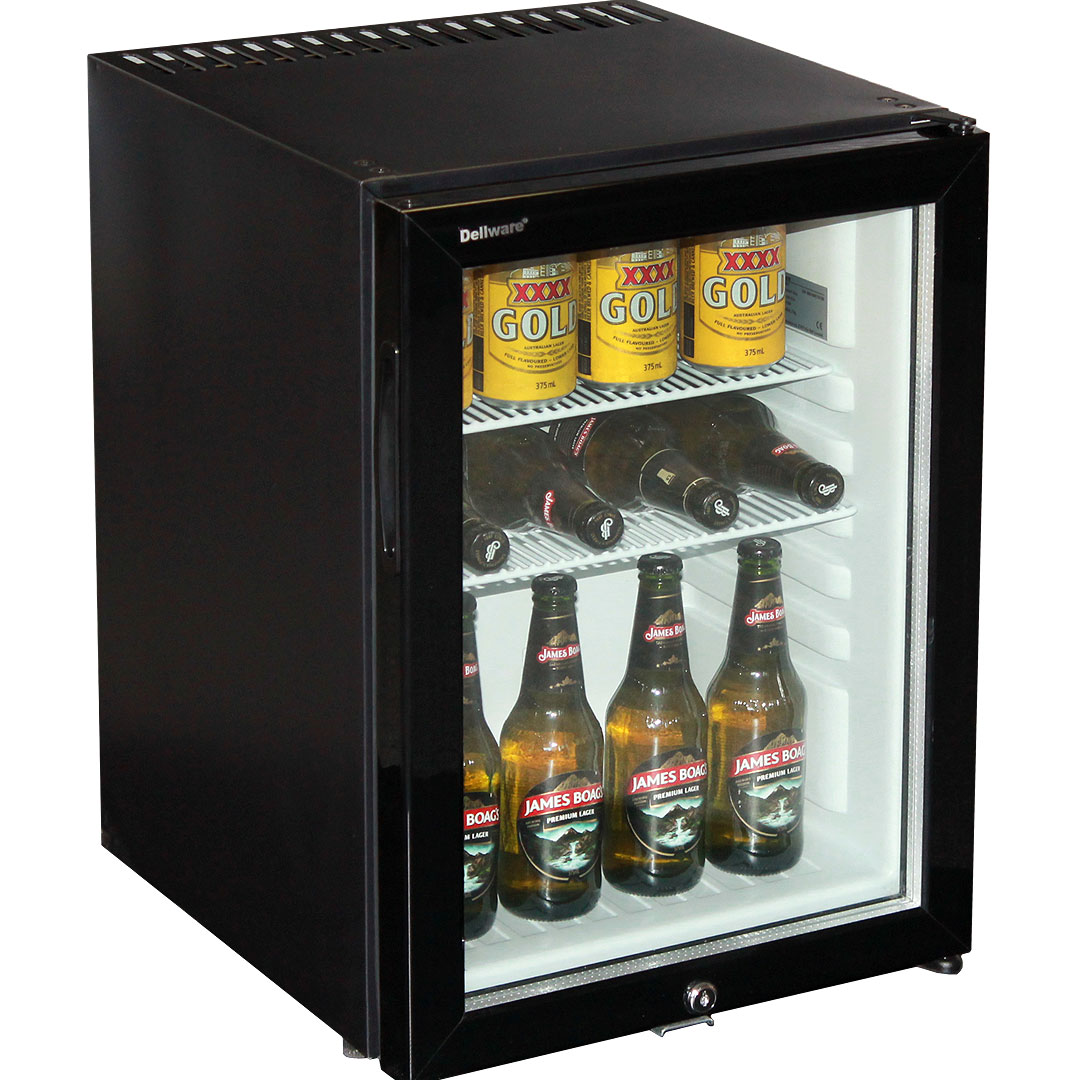 Motel Style Silent Mini Bar Fridge With Triple Glass Door