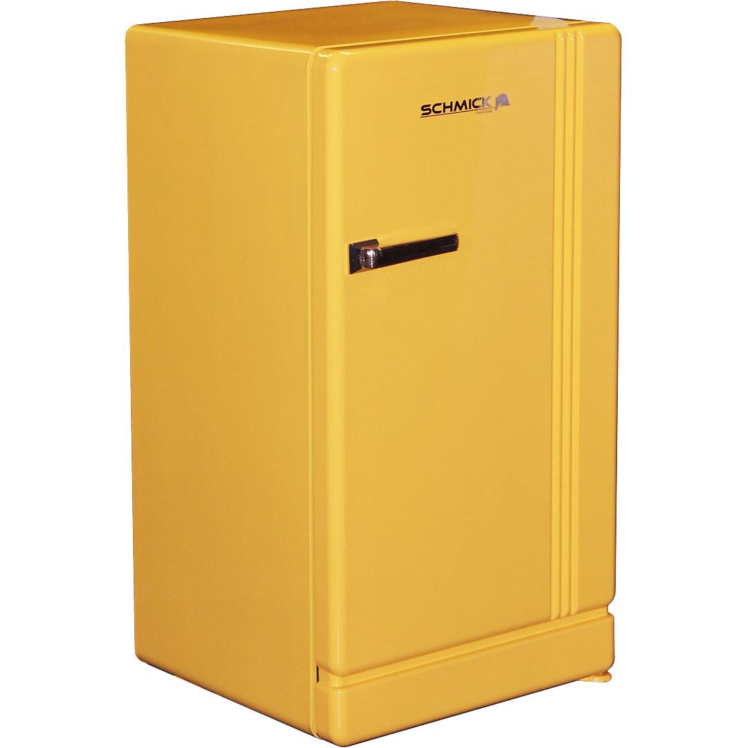 Retro Yellow Bar Refrigerator Nostalgic Look With Col