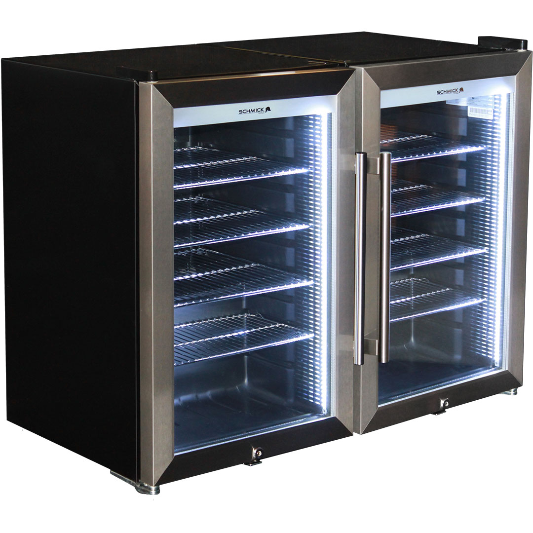Alfresco Tropical Rated Bar Fridge Triple Glazed 2 Door With Locks