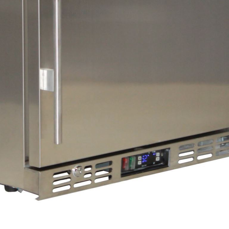 Rhino 1 Door All Stainless Bar Fridge Interior
