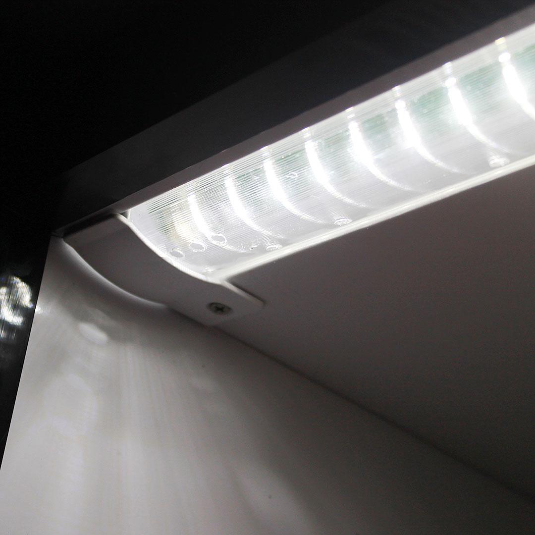 Upright Glass Door Bar Fridge Dellware Light