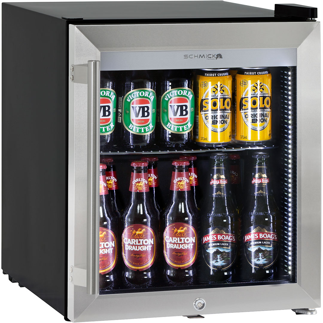 Triple Glazed Bar Fridge Tropical Rating Led Lighting With Lock