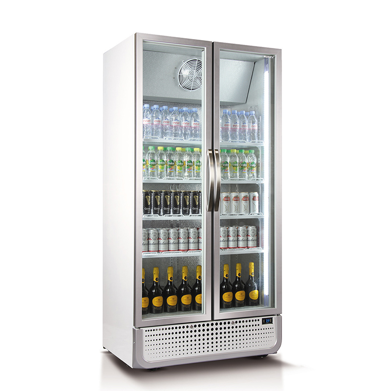 Husky Glass 2 Door Upright Commercial Energy Saving Bar Fridge Model