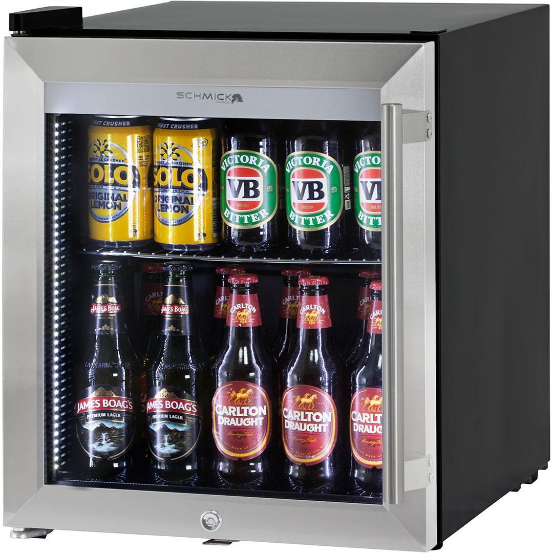 Glass Door Mini Bar Fridge Tropical Rated 50 Litre Triple Glazed